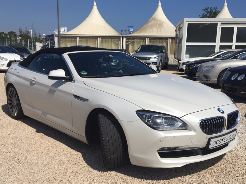 rent a bmw 6 cabrio in nice cannes monaco by luxury car rental. Black Bedroom Furniture Sets. Home Design Ideas