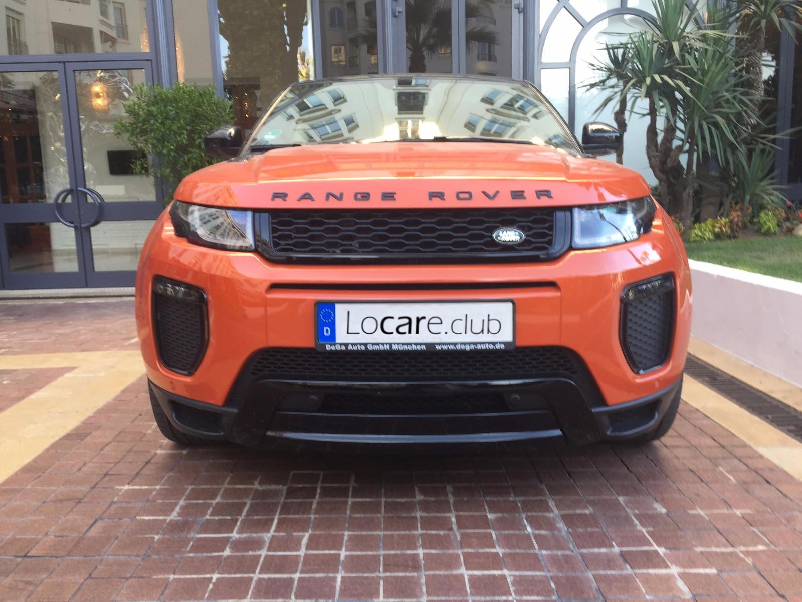 rent a land rover range rover evoque cabrio in nice cannes monaco by luxury car. Black Bedroom Furniture Sets. Home Design Ideas