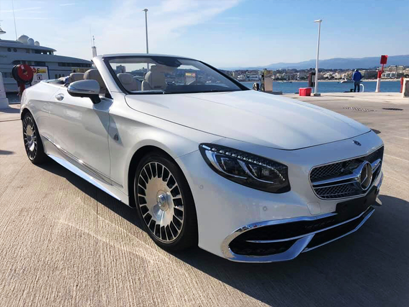 Maybach S650 Cabrio Locare Club Rent car Cannes, Nice, Monaco Аренда авто Канны, Ницца, Монако